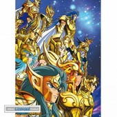Saint Seiya Mini Poster - Gold Saints (52x38 Cm)