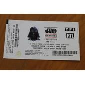 Billet Exposition Star Wars Identities - Dark Vador