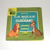 La Belle Et Le Clochard Disque Vinyl + Livre 24 Pages Disneyland - Jacques Poterat Peggy Et Sonny Burke
