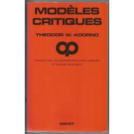 Modèles Critiques - Theodor Adorno