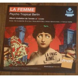 plv souple 30x30cm LA FEMME album PSYCHO TROPICAL BERLIN magasins FNAC