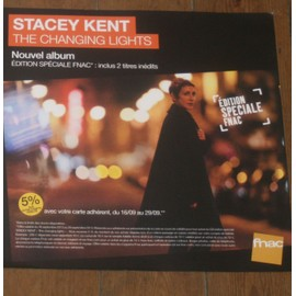plv souple 30x30cm STACEY KENT album THE CHANGING LIGHTS edition speciale FNAC jazz