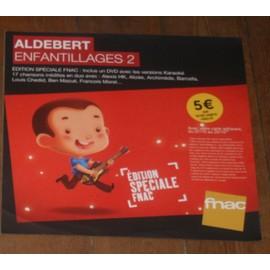 plv souple 30x30cm ALDEBERT album ENFANTILLAGES 2 magasins FNAC avec ALIZEE , LOUIS CHEDID ,