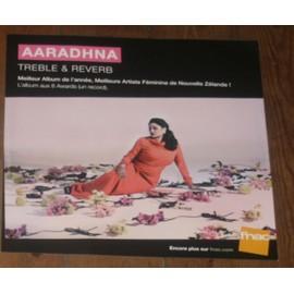 plv souple 30x30cm AARADHNA album TREBLE & REVERB meilleure artiste féminine de NOUVELLE ZELANDE