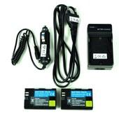 2 X Batterie Lp-E6 Lpe6 1600mah + Chargeur Voiture Allume-Cigare + Chargeur Pour Canon Lpe6 Eos 5d Mark Ii, 5d Mark Iii, 60d, 70d, 6d And 7d