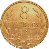 8 Doubles 1864 Guernesey