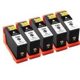 5x Cartouches D'encres Compatible Pour Lexmark Multipack 100xl 100 Xl Noir - Pour Lexmark Impact S305, Interact 605, Interpret S405, Intuition S505, Pro905, Pro805, Pro705, Prospect Pro205