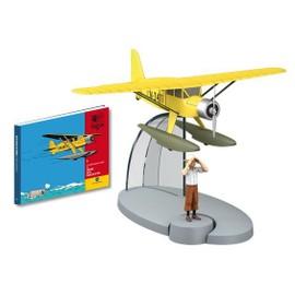 Collection En Avion Tintin N.1 : L Hydravion Jaune Du Crabe Aux Pinces D Or Et La Figurine Tintin