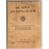 Revue Du Club Alpin Suisse 1. 1. 1928