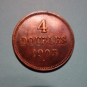 4 Doubles Guernesey 1903