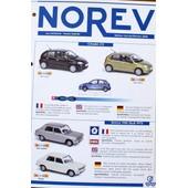 Fiche Classeur Norev Recto Verso Citroen C3 Simca 1100 Renault Pompier Clio Kangoo 1/43