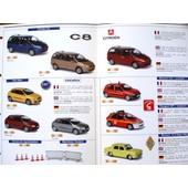 Fiche Classeur Norev Recto Verso 2 Pages C8 Clio Fiat Renault Id Break 1/43
