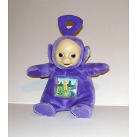 Teletubbies Tinky Winky Peluche Parlante Sonore Avec Images Qui Defilent Tomy