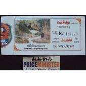Billet De Visite De La Grotte Des 4000 Bouddhas - Tham Ting,Luang Prabang - Laos .