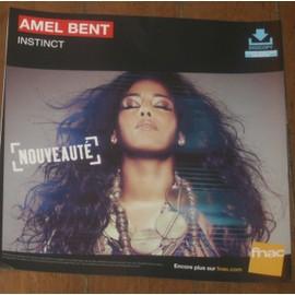 rare PLV 30x30cm AMEL BENT instinct 2014 / magasins FNAC