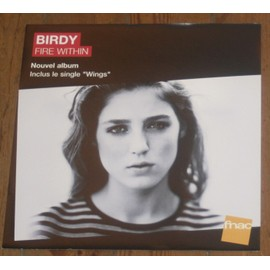 rare PLV souple 30x30cm BIRDY fire within / magasin FNAC