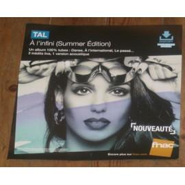 rare PLV souple 30x30cm TAL a l'infini SUMMER EDITION / magasins FNAC