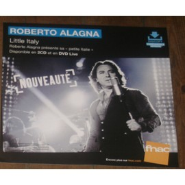 rare PLV souple 30x30cm ROBERTO ALAGNA little italy / magasins FNAC