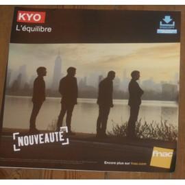 rare PLV 30x30cm souple KYO l'équilibre 2014 / magasins FNAC