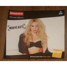rare PLV souple 30x30cm SHAKIRA album 2014 / magasins FNAC