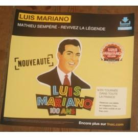 rare PLV souple 30x30cm LUIS MARIANO MATHIEU SEMPERE revivez la légence / magasins FNAC