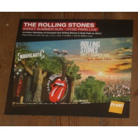 THE ROLLING STONES SUMMER SUN 2013 PLV FORMAT 33 TOURS FNAC PROMO