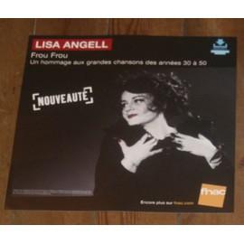 rare PLV souple 30x30cm LISA ANGELL frou frou / magasins FNAC