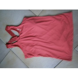 Top A Bretelles Rose Marque Reebok Taille S 36/38