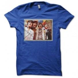 T-shirt The Beatles pop art bleu