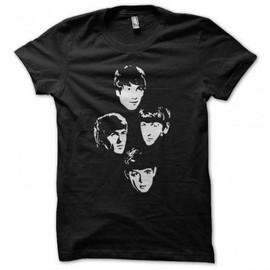 T-shirt noir the beattles