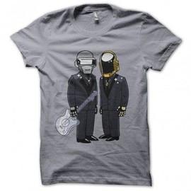 T-shirt daft punk version simpson gris