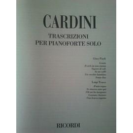 CARDINI / Trascrizioni per pianoforte solo