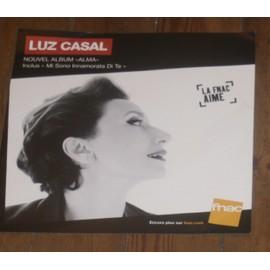 rare PLv souple 30x30cm LUZ CASAL alma / magasins FNAC