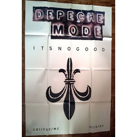 Depeche Mode - Poster It's No Good 1997 - format métro - plié