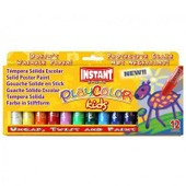 12 Playcolor Gouache Solide En Stick