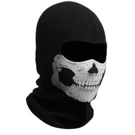 Cagoule Masque Yeux Tissu Respirant. Motif T�te De Mort Ghost. Fant�me Cr�ne T�te De Mort Militaire Soldat Arm�e Pour Halloween. Convention Jeu Vid�o
