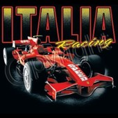 T-Shirt Homme Manches Courtes Style Formule 1 - Italia Racing Speed Car - 10695