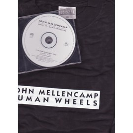 JOHN MELLENCAMP Pack T shirt XL human wheels + CD Maxi what if I came knocking USA ONLY