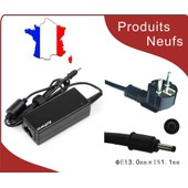 Adapteur chargeur 19V 2.1A 3.0mm*1.1mm pour samsung Xe500c21 xe700t1a,samsung s�rie 3 ,NP300,NP305..,samsung NP900 samsung net book 11.6