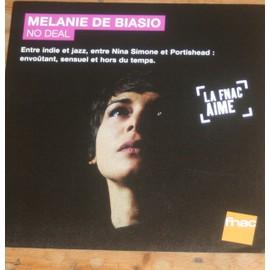 rare plv souple 30x30cm MELANIE DE BIASIO album NO DEAL / magasins FNAC / jazz