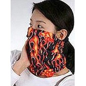 Masque, Tour De Cou - Flamme Enfer - Tube �lastique 50 X 25 - 100% Dacron - Taille Unique (Ghost Army Skull Biker / Rider Protection) Snowboard, Ski, Moto, V�lo, Roller, Skate, Etc...