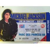 Billet Michael Jackson Parc Des Princes 1988