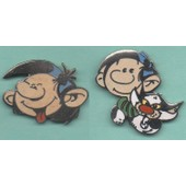 Lot De 2 Pin's Gaston Lagaffe : Gaston Et Gaston Et Son Chat