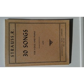 STRAUSS R 30 SONGS for voice and piano (low)