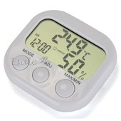 Lcd Thermom�tre Hygrom�tre Num�rique Horloge Mesure Humidit� Temp�rature