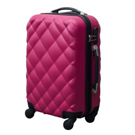 Valise Rigide De Voyage Trolley Bagage � Roulettes 360�Abs 57cm 35 Litres Rose Neuf 24