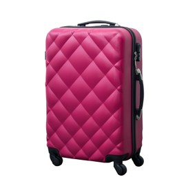 Valise Rigide De Voyage Trolley Bagage � Roulettes 360� Abs 66cm 55 Litres Rose Neuf 23
