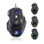 Patuoxun Nouveau LED Optique 3200 DPI 7 Bouton USB Souris Filaire Gaming Mouse /3200DPI LOL CF wire gaming mouse 7D Pour Pro Gamer