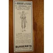 Publicit� Ann�es 1930 Le Burberry En Pluvior Est L'imperm�able D'�t�