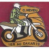 Pin's C . Neveu 1er Au Dakar 79